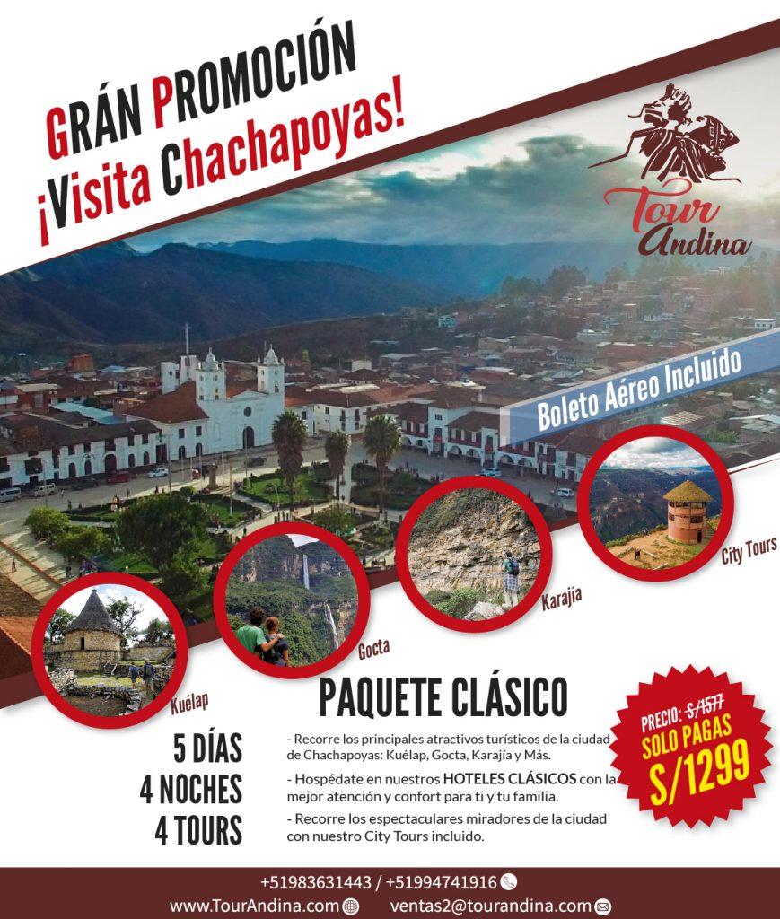 PAQUETE CLÁSICO CON BOLETO AEREO - S/1299